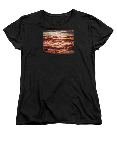 Women's T-Shirt (Standard Cut) featuring the photograph Canyon In The Painted Desert  ... by Chuck Caramella