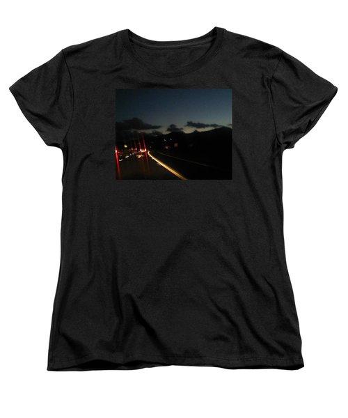 Canyon Road Winter Women's T-Shirt (Standard Cut) by Dan Twyman