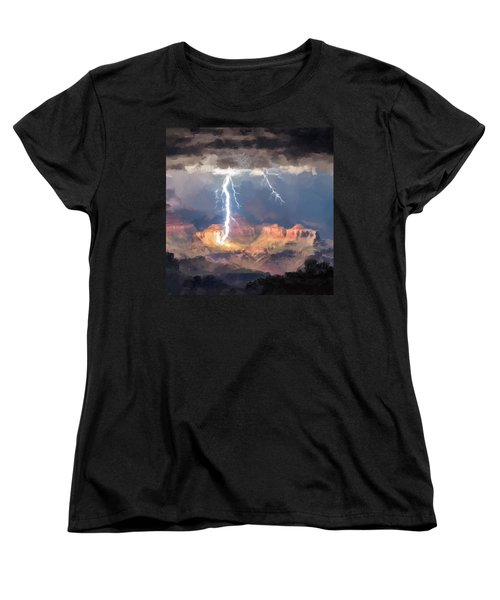 Canyon Storm Women's T-Shirt (Standard Cut)