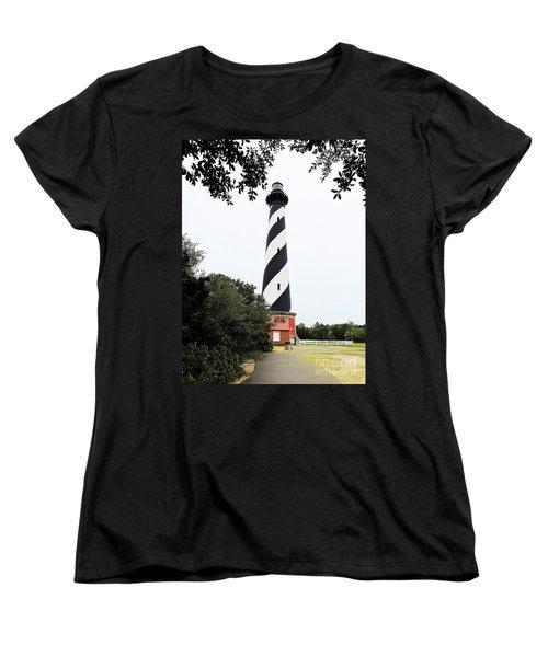 Cape Hatteras Lighthouse Women's T-Shirt (Standard Cut) by Shelia Kempf