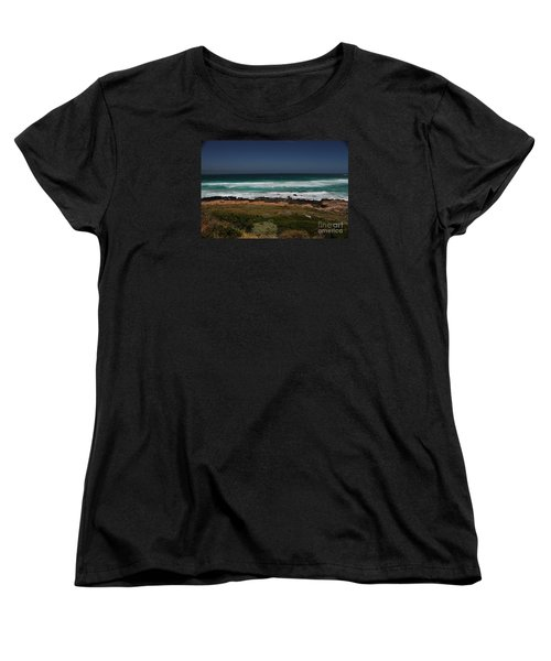 Women's T-Shirt (Standard Cut) featuring the photograph Capetown Penisula Beach by Bev Conover
