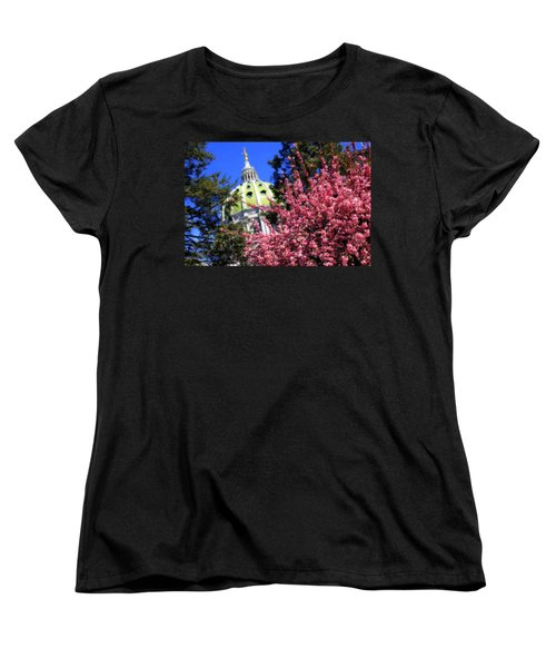 Capitol In Bloom Women's T-Shirt (Standard Cut) by Shelley Neff