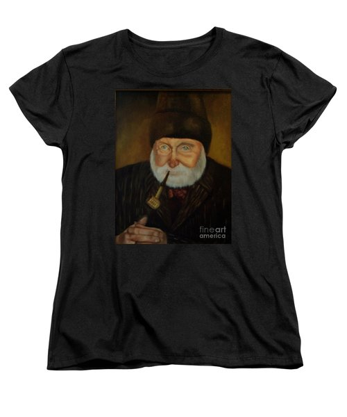 Women's T-Shirt (Standard Cut) featuring the painting Cap'n Danny by Marlene Book