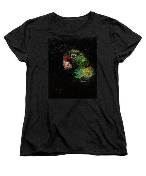 Captain The Parrot Women's T-Shirt (Standard Cut) by Janet Garcia