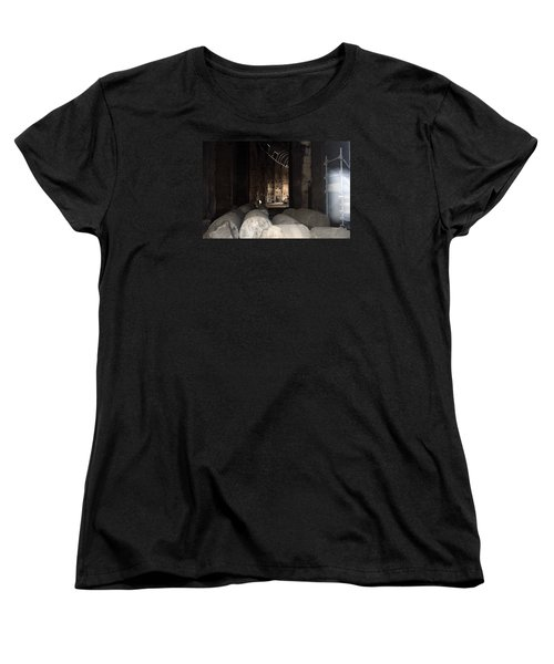 Captured Ghost At Colosseum Rome Women's T-Shirt (Standard Cut) by Richard Ortolano