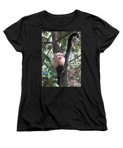 Capuchin Monkey 4 Women's T-Shirt (Standard Cut) by Randall Weidner