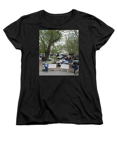 Women's T-Shirt (Standard Cut) featuring the photograph Car Show In Deming N M by Jack Pumphrey
