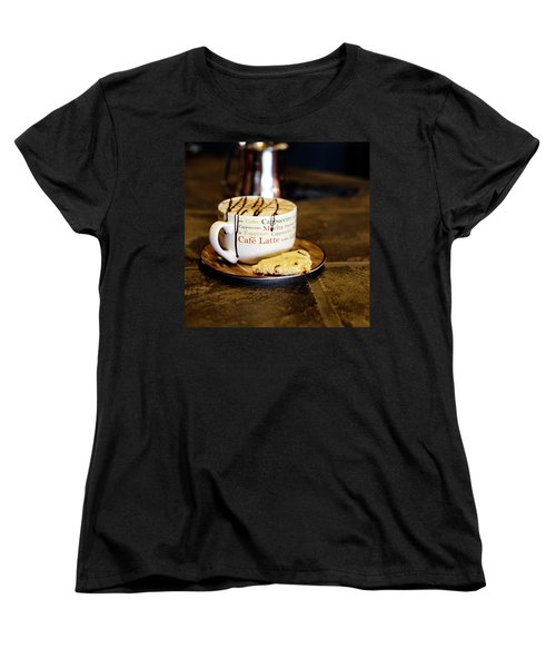 Caramel Macchiato With Scone Women's T-Shirt (Standard Cut)