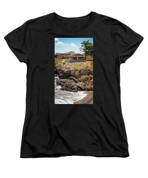 Women's T-Shirt (Standard Cut) featuring the photograph Caribbean Coastline Cuba by Joan Carroll
