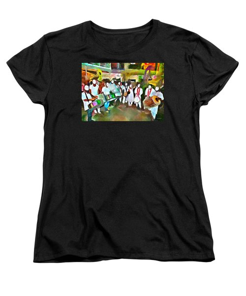 Caribbean Scenes - Pan And Tassa Women's T-Shirt (Standard Cut) by Wayne Pascall