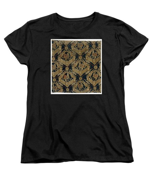Textile Tapestry Carpet With The Arms Of Rogier De Beaufort Women's T-Shirt (Standard Cut) by R Muirhead Art