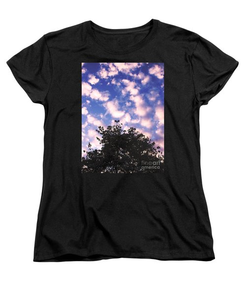 Cartoon Clouds Women's T-Shirt (Standard Cut) by Melissa Stoudt