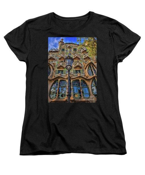 Women's T-Shirt (Standard Cut) featuring the photograph Casa Batllo Gaudi by Henry Kowalski
