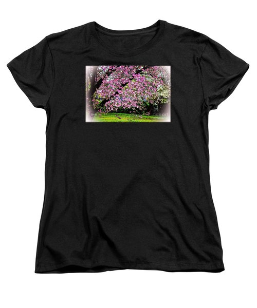 Cascading Dogwood Copyright Mary Lee Parker 17, Women's T-Shirt (Standard Cut) by MaryLee Parker