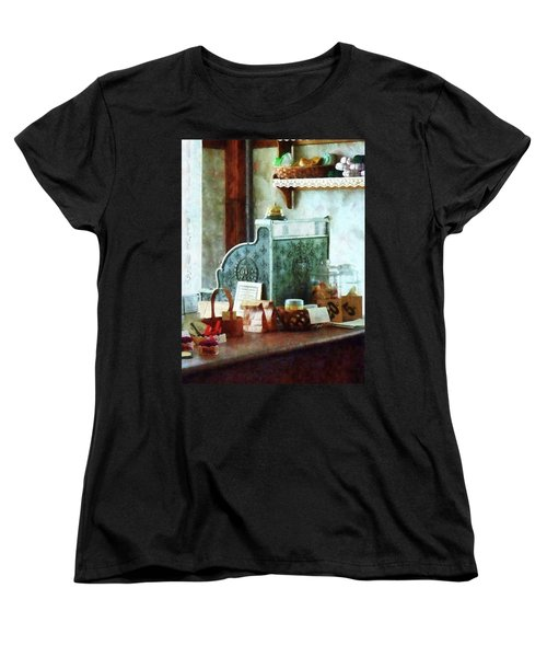Women's T-Shirt (Standard Cut) featuring the photograph Cash Register In General Store by Susan Savad