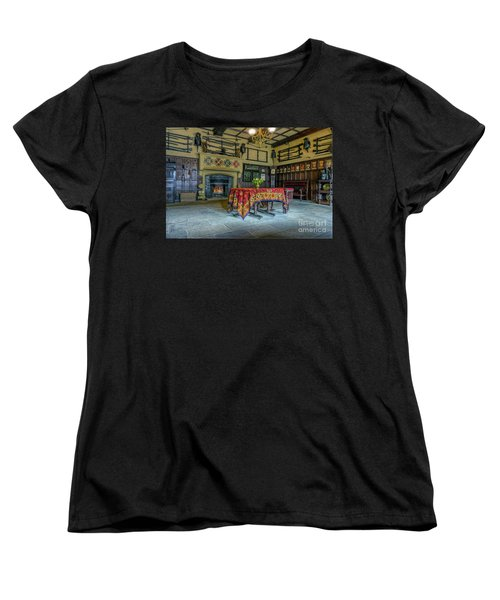 Women's T-Shirt (Standard Cut) featuring the photograph Castle Dining Room by Ian Mitchell