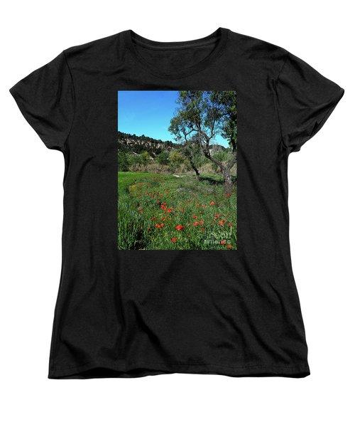 Catalan Countryside In Spring Women's T-Shirt (Standard Cut) by Don Pedro De Gracia