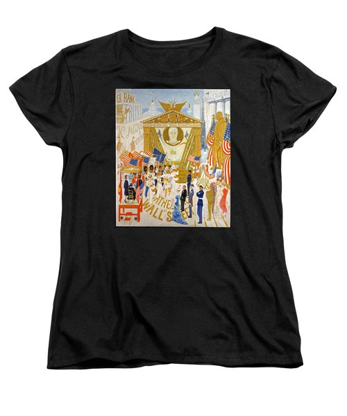 The Cathedrals Of Wall Street - History Repeats Itself Women's T-Shirt (Standard Cut) by John Stephens
