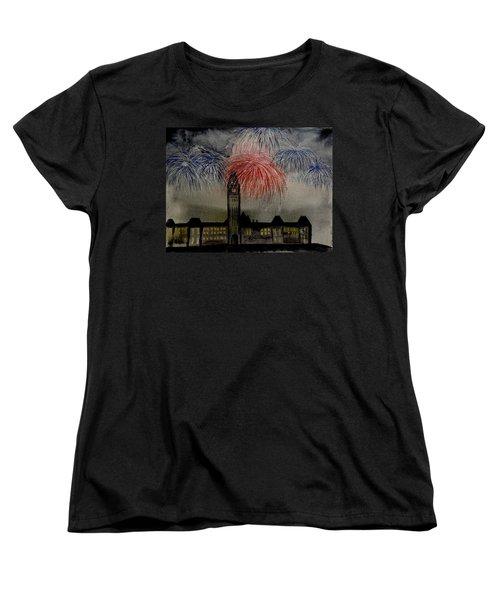 Celebrate Women's T-Shirt (Standard Cut) by Betty-Anne McDonald