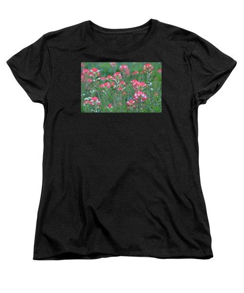 Celebration Of Paintbrushes Women's T-Shirt (Standard Cut) by Carolina Liechtenstein
