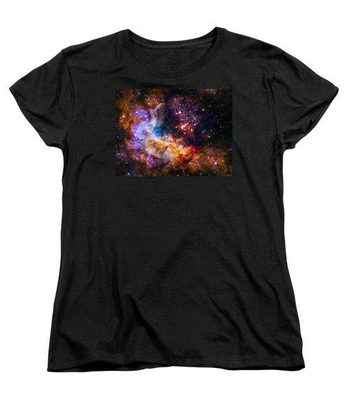 Celestial Fireworks Women's T-Shirt (Standard Cut) by Marco Oliveira