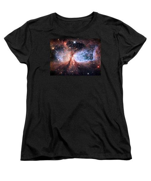 Women's T-Shirt (Standard Cut) featuring the photograph Celestial Snow Angel - Enhanced - Sharpless 2-106 by Adam Romanowicz
