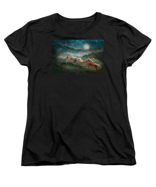 Celestial Stallions Women's T-Shirt (Standard Cut) by Melinda Hughes-Berland