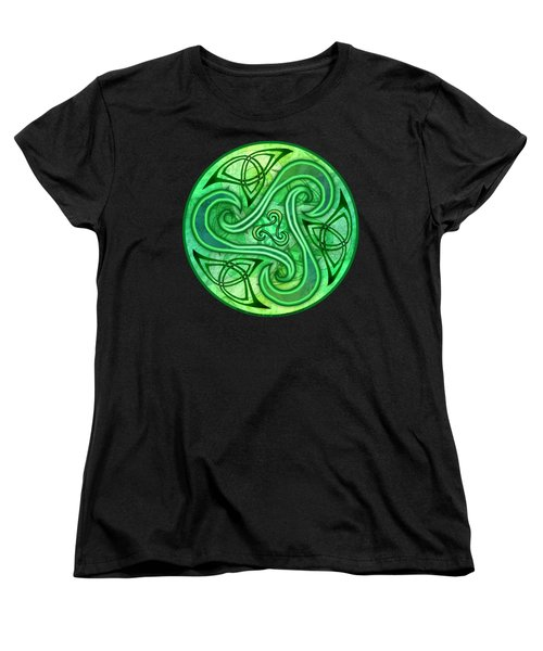 Women's T-Shirt (Standard Cut) featuring the mixed media Celtic Triskele by Kristen Fox