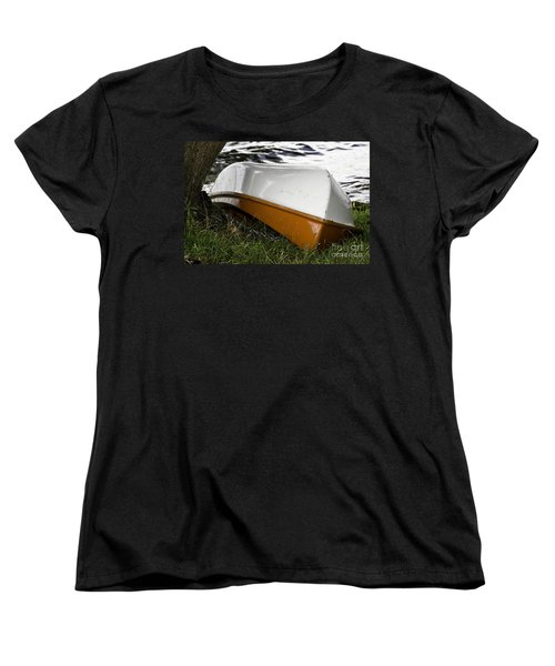 Women's T-Shirt (Standard Cut) featuring the photograph Chained Little Boat Just Waiting by Yurix Sardinelly
