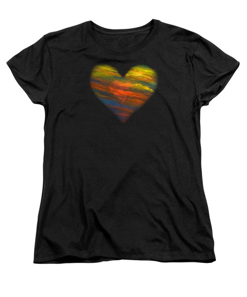 Chakra Energy With Heart Women's T-Shirt (Standard Cut) by Deborha Kerr