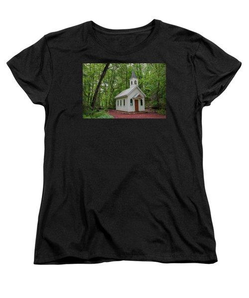 Chapel In The Woods 1 Women's T-Shirt (Standard Cut) by Trey Foerster