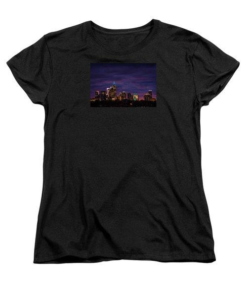 Charlotte, North Carolina Winter Sunset Women's T-Shirt (Standard Cut) by Serge Skiba
