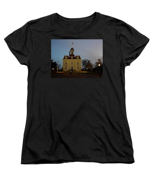Chase County Courthouse Women's T-Shirt (Standard Cut) by Keith Stokes