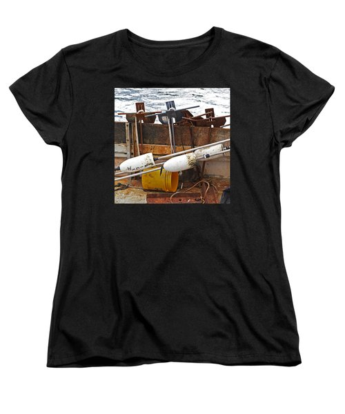 Women's T-Shirt (Standard Cut) featuring the photograph Chatham Fishing by Charles Harden
