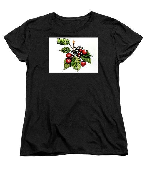 Cherries Women's T-Shirt (Standard Cut) by Terry Banderas