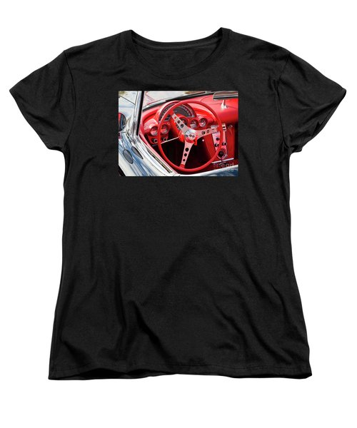 Women's T-Shirt (Standard Cut) featuring the photograph Chevrolet Corvette Dash by Chris Dutton
