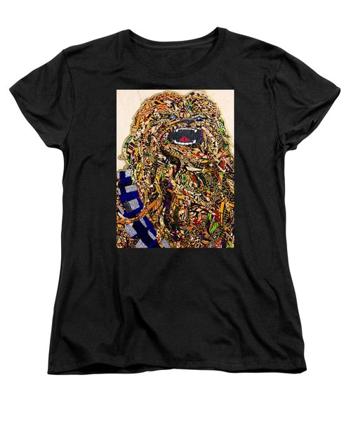 Women's T-Shirt (Standard Cut) featuring the tapestry - textile Chewbacca Star Wars Awakens Afrofuturist Collection by Apanaki Temitayo M