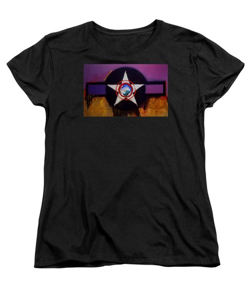 Women's T-Shirt (Standard Cut) featuring the painting Cheyenne Autumn by Charles Stuart