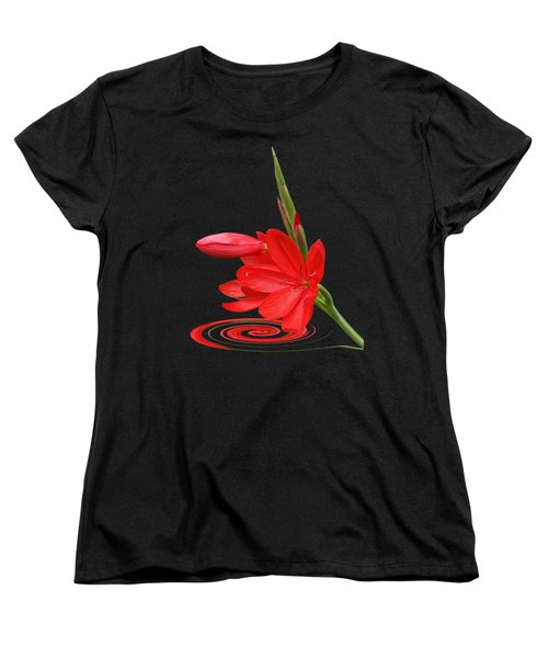 Chic - Ritzy Red Lily Women's T-Shirt (Standard Cut) by Gill Billington