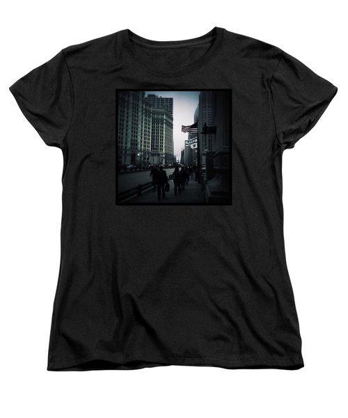 Chicago City Fog Women's T-Shirt (Standard Cut) by Frank J Casella