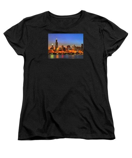 Chicago Dusk Women's T-Shirt (Standard Cut) by Charmaine Zoe