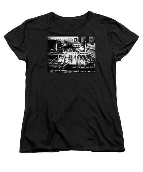 Chicago Railroad Yard Women's T-Shirt (Standard Cut) by Kyle Hanson