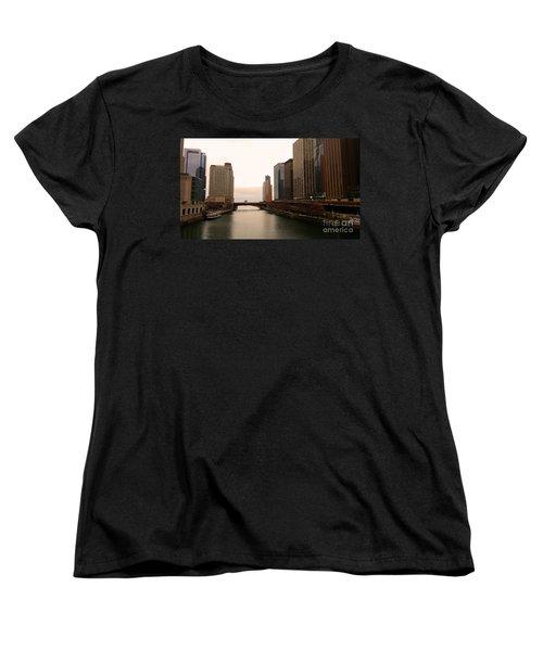 Women's T-Shirt (Standard Cut) featuring the photograph Chicago Rive by Elizabeth Coats