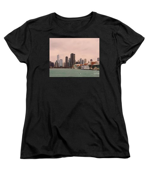 Chicago Skyline Women's T-Shirt (Standard Cut) by Elizabeth Coats
