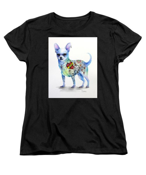 Chihuahua Topo Women's T-Shirt (Standard Cut) by Patricia Lintner