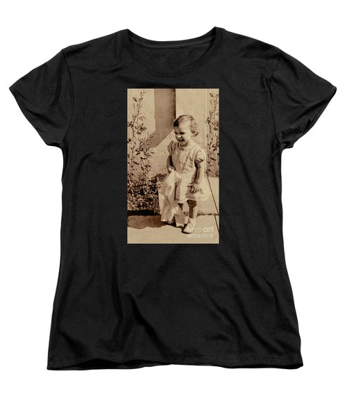 Women's T-Shirt (Standard Cut) featuring the photograph Child Of 1940s by Linda Phelps