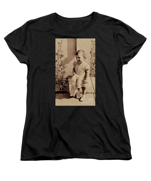 Women's T-Shirt (Standard Cut) featuring the photograph Child Of  The 1940s by Linda Phelps