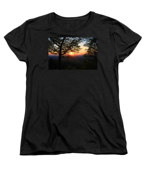 Women's T-Shirt (Standard Cut) featuring the photograph Chilhowee Sunset by Kathryn Meyer