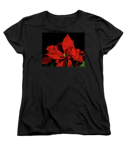Christmas Fire Women's T-Shirt (Standard Cut) by Christopher Holmes