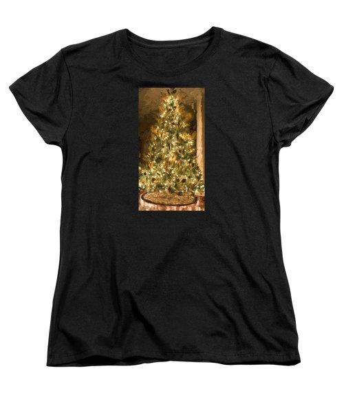 Christmas Tree Women's T-Shirt (Standard Cut) by Cathy Jourdan